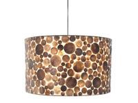 Villaflor Villaflor schelpenlamp - Coin Gold - Hanglamp - cilinder - Ø 55 cm