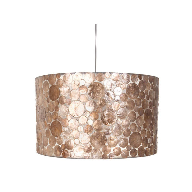 Villaflor schelpenlamp - Coin Gold - Hanglamp - cilinder - Ø 55 cm