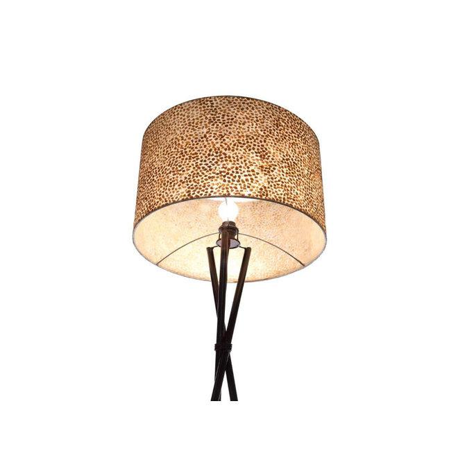 Villaflor schelpenlamp - Wangi Gold - Kodiak vloerlamp met kap - hoogte 172 cm