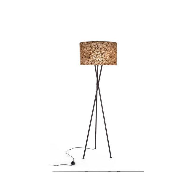 Schelpenlamp - Wangi Gold - Kodiak vloerlamp met kap