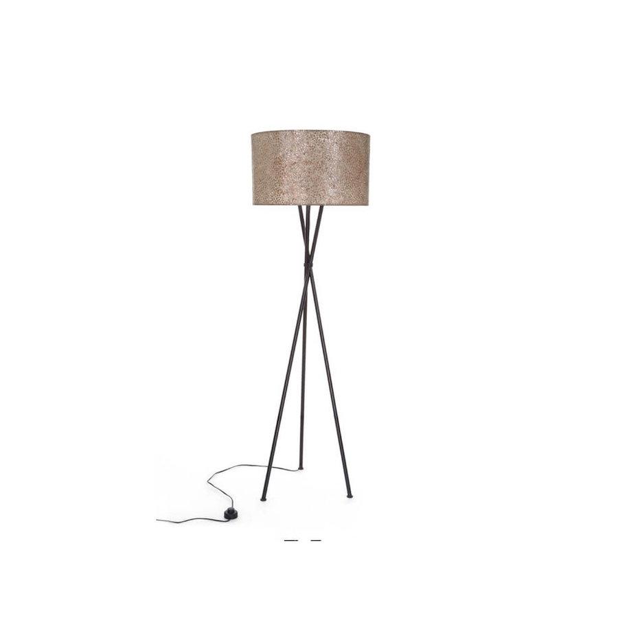 Villaflor Villaflor schelpenlamp - Wangi Gold - Kodiak vloerlamp met kap - hoogte 172 cm