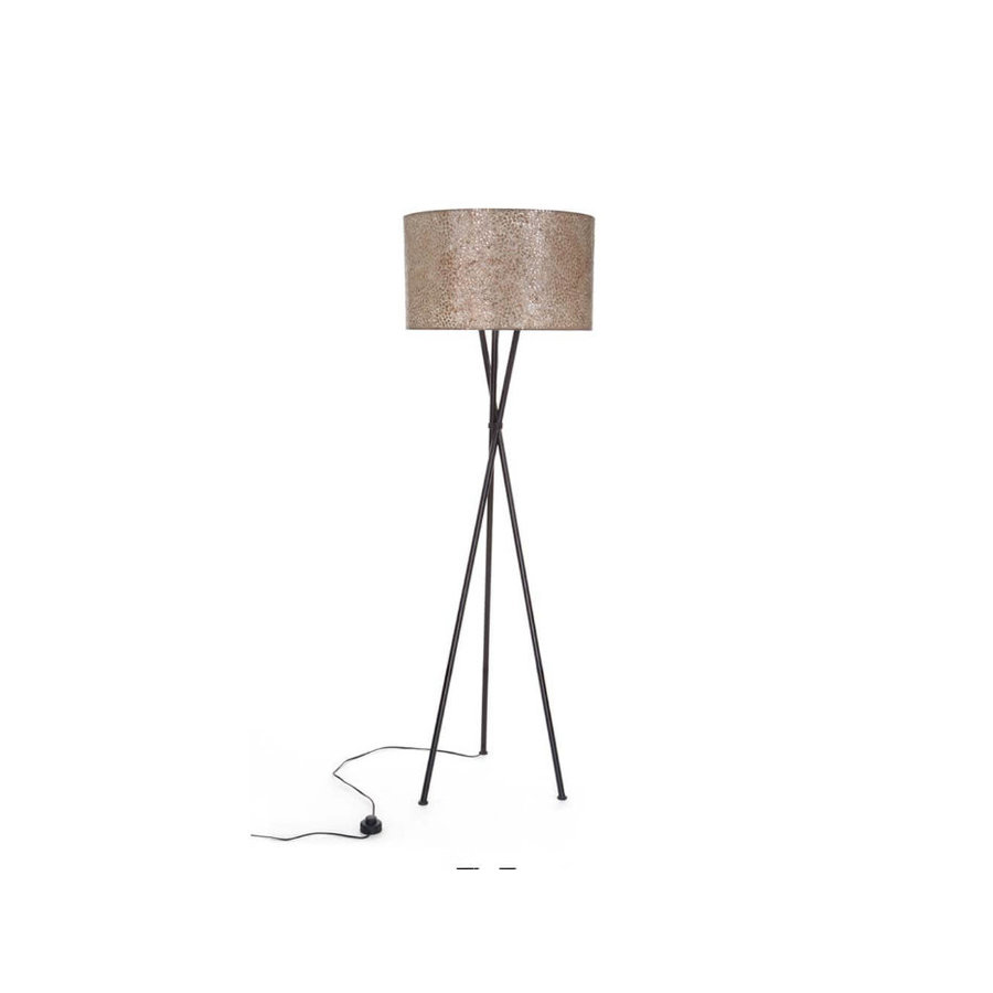 Villaflor Wangi Gold - Kodiak vloerlamp met kap - hoogte 172 cm