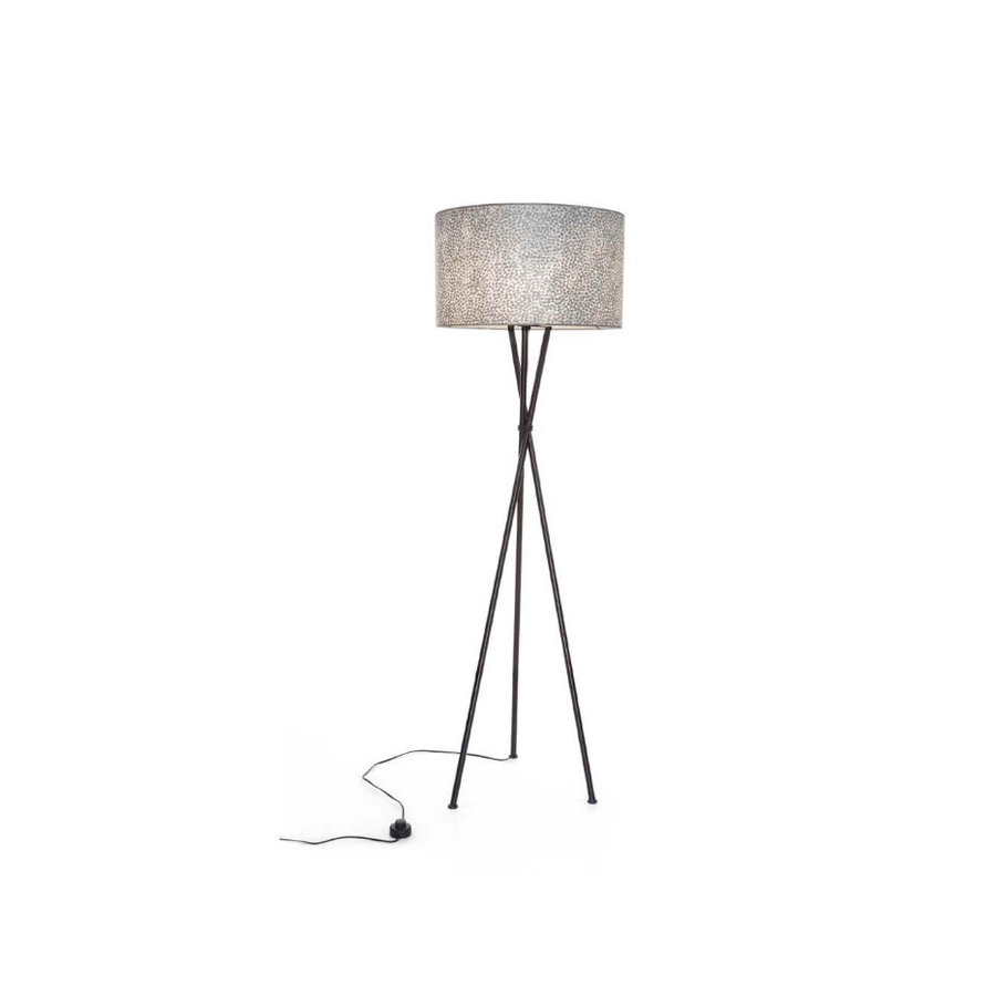 Villaflor Villaflor schelpenlamp - Wangi White - Kodiak vloerlamp met kap - hoogte 172 cm