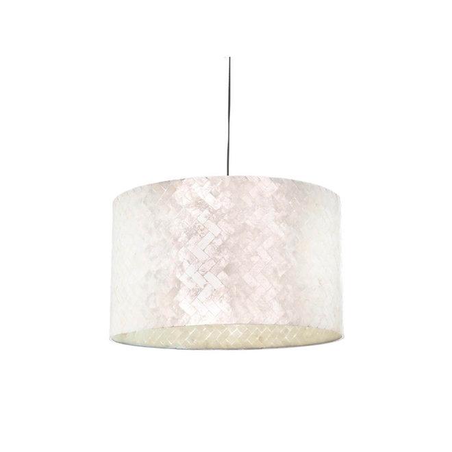 Villaflor schelpenlamp - Zigzag - Hanglamp - cilinder - Ø 55 cm