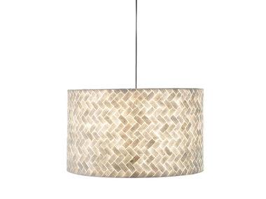 Villaflor Schelpenlamp - Zigzag - Hangende cilinder - Ø 55 cm