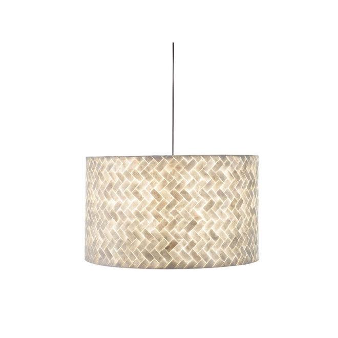 Schelpenlamp - Zigzag - Hangende cilinder - Ø 55 cm