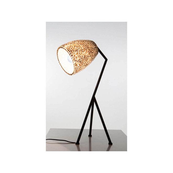 Villaflor schelpenlamp - Wangi Gold - Elba tafellamp  - hoogte 60 cm