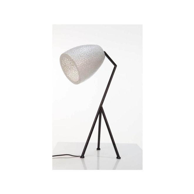 Villaflor schelpenlamp - Wangi White - Elba tafellamp  - hoogte 60 cm
