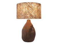 Villaflor Villaflor schelpenlamp - Wangi Gold - Pepin tafellamp met kap - hoogte 52 cm