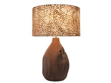 Villaflor Wangi Gold - Pepin tafellamp met kap