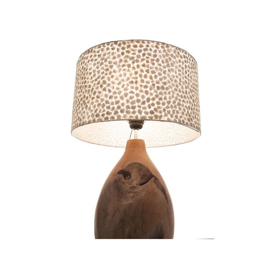 Villaflor Wangi White - Pepin tafellamp met kap - hoogte 52 cm