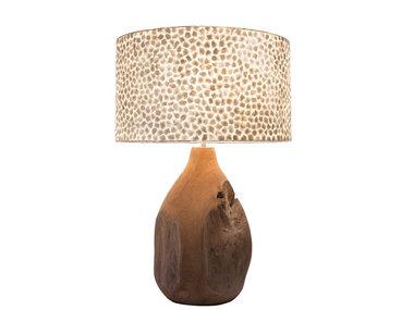 Villaflor Wangi White - Pepin tafellamp met kap