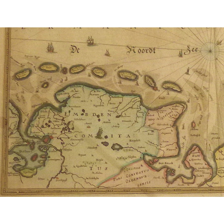 Gouldmaps Waddenzee; J. Janssonius - Nieuwe Caerte (..) van Amsterdam over de Watten (..) - 1637