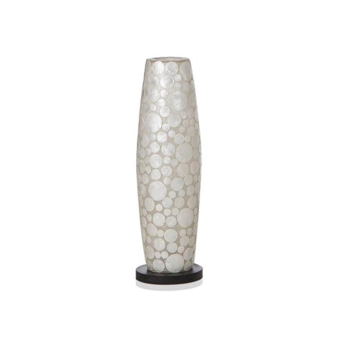 Villaflor schelpenlamp - Coin White - vloerlamp - Apollo - 70 cm