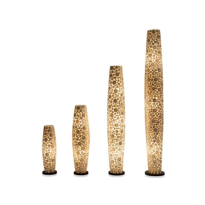 Villaflor schelpenlamp - Coin White - vloerlamp - Apollo - 150 cm