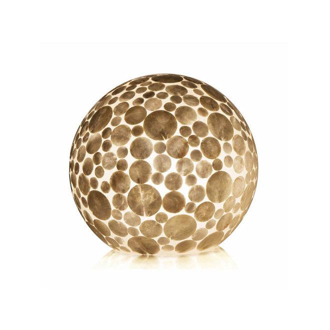 Villaflor schelpenlamp - Coin White - tafellamp - Staande bol - Ø 40 cm