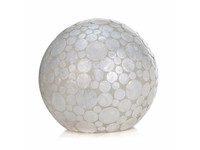 Villaflor Villaflor schelpenlamp - Coin White - tafellamp - Staande bol - Ø 40 cm