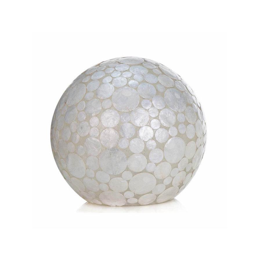 Villaflor Coin White - tafellamp - Staande bol - Ø 40 cm