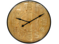 Goods by Goedegebuure Wall Clock Pinewood