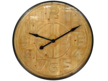 Goods by Goedegebuure Wall Clock Pinewood