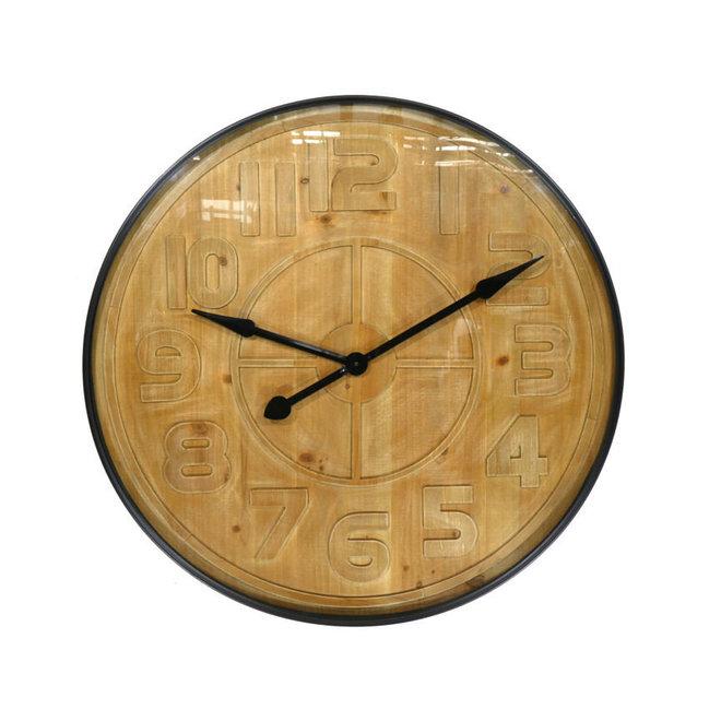 Wall Clock Pinewood