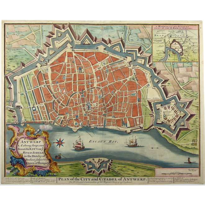 Antwerpen; J. Basire / N. Tindal - Antwerp A strong, large and Beautiful City (..) - 1751