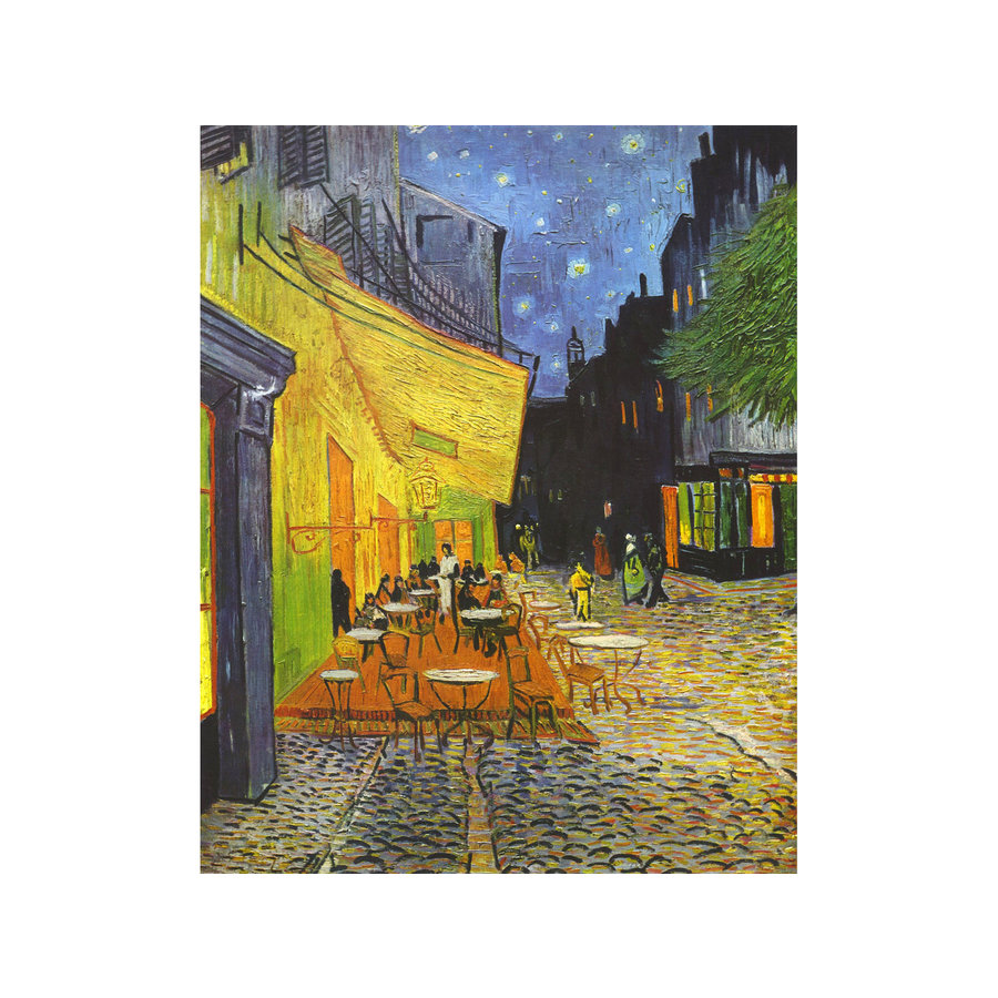 Böhme Lakdoos Caféterras bij nacht