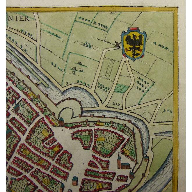 Collectie Gouldmaps - Deventer; G. Braun / F. Hogenberg - (..) Daventriensis Delineatio. - 1581