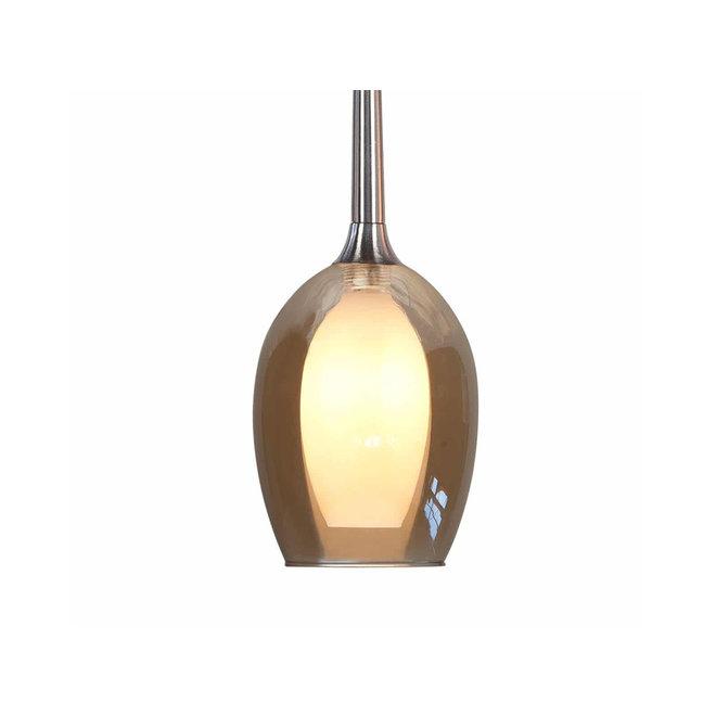Hanglamp Belle Amber, rond
