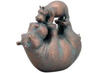 Exner Spelende Nijlpaarden