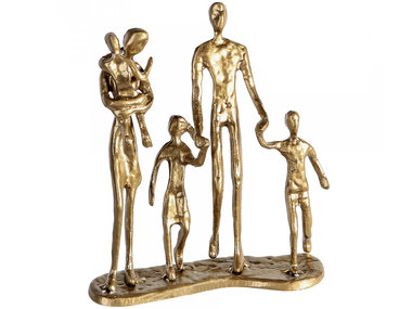 Casablanca Metal-Sculpture 'Family' gold