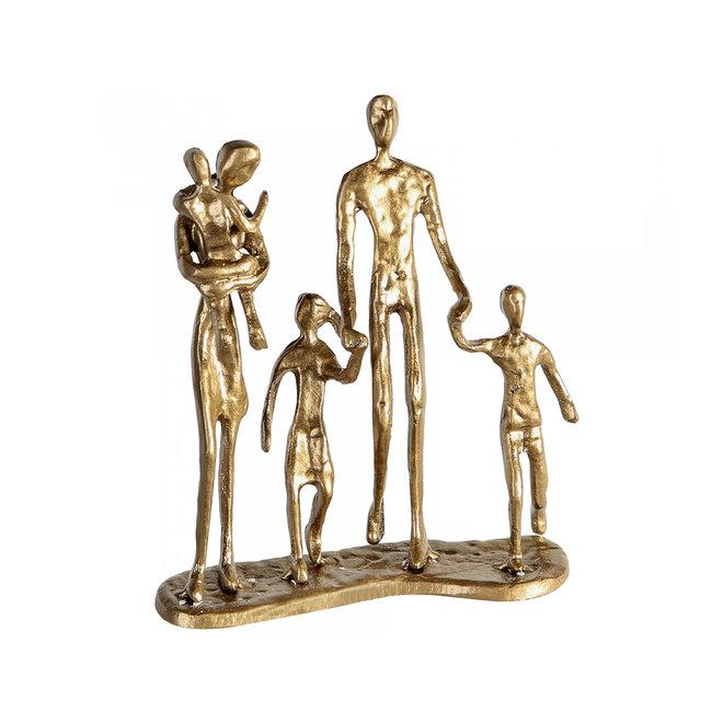 Metal-Sculpture 'Family' gold