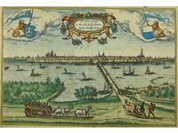 Gouldmaps Kampen ; G. Braun / F. Hogenberg - Icon civitatis Campensis (..)  - 1575
