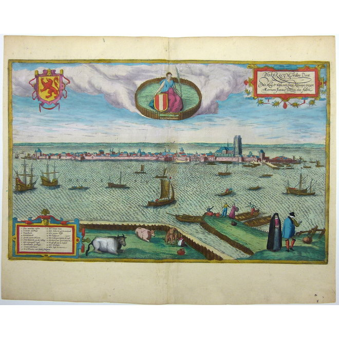 Collectie Gouldmaps - Dordrecht; G. Braun / F. Hogenberg - Dordracum vulgo Dortt (..) - 1575
