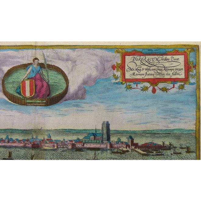 gereserveerd - Collectie Gouldmaps - Dordrecht; G. Braun / F. Hogenberg - Dordracum vulgo Dortt (..) - 1575