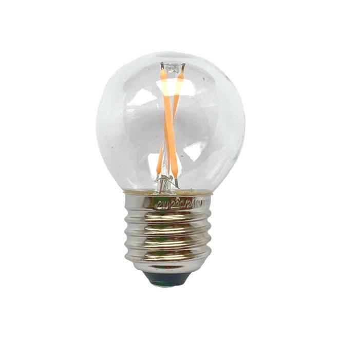 Bollamp mini LED E27 helder 100 lm 2200K
