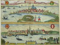 Gouldmaps Rotterdam en Gouda; G. Braun / F. Hogenberg - Roterodamum en Gouda Hollandiae Opp. (..) - 1581