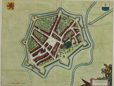 Gouldmaps Verkocht - Steenwijk - J. Blaeu - Steenwiick. - 1649