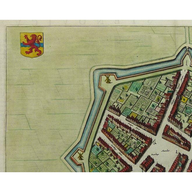 Verkocht - Collectie Gouldmaps - Steenwijk; J. Blaeu - Steenwiick. - 1649