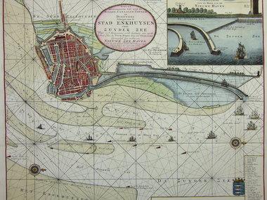 Gouldmaps Enkuizen; G. van Keulen - Nieuwe Afteekening van (..) de stad Enkhuysen inde Zuyder Zee.- ca. 1710