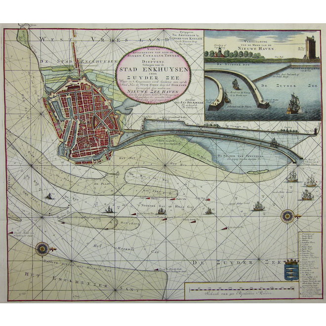 Collectie Gouldmaps - Enkuizen; G. van Keulen - Nieuwe Afteekening van (..) de stad Enkhuysen inde Zuyder Zee.- ca. 1710