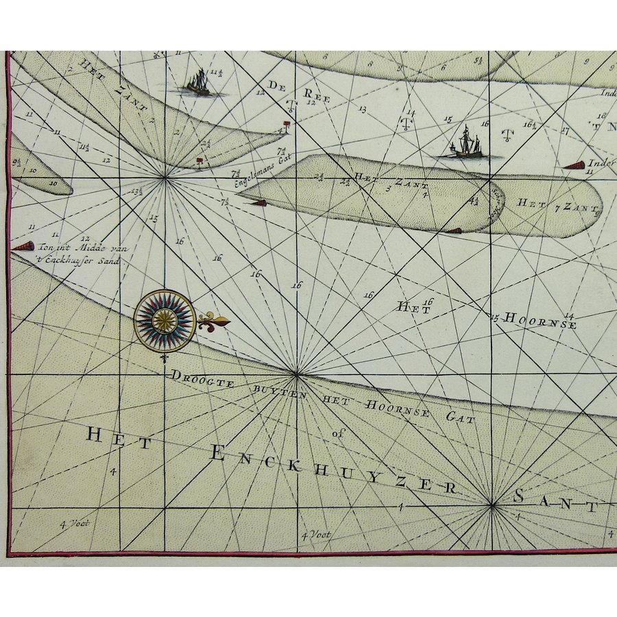 Gouldmaps Enkhuizen; G. van Keulen - Nieuwe Afteekening van (..) de stad Enkhuysen inde Zuyder Zee.- ca. 1710