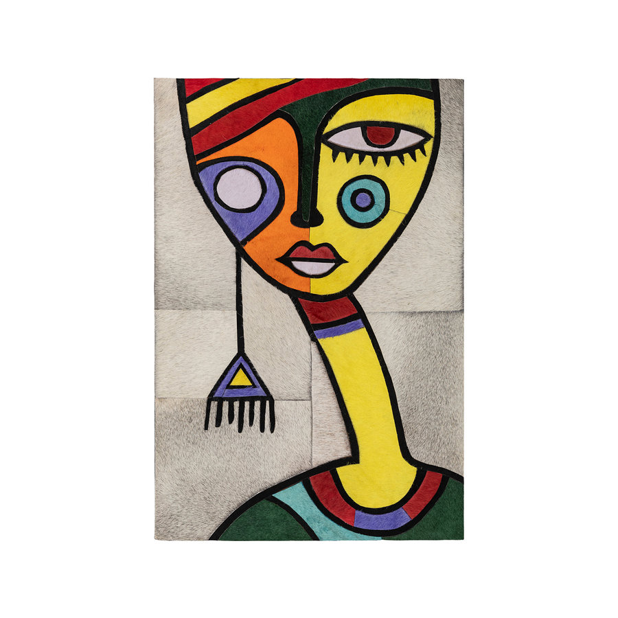 Craftzz Leather Art African Woman in Yellow
