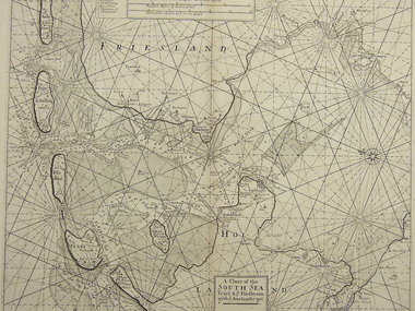 Gouldmaps Zuiderzee; S. Thornton - A chart of the South Sea Texel & ye Fliestream with ye Amelander gat. - 1756