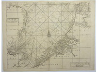 Gouldmaps Noordzee; S. Thornton - A chart of the Seacoasts of England, Flanders and Holland (..). - 1756