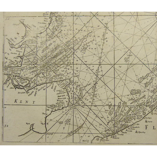 Collectie Gouldmaps - Noordzee; S. Thornton - A chart of the Seacoasts of England, Flanders and Holland (..). - 1756