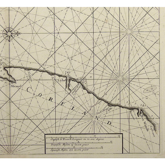 Oostzee, Pruissen ; S. Thornton - Prussia and Coerland from Rygshead to Der Winda. - 1756