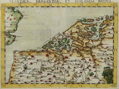Gouldmaps De Nederlanden; G. Ruscelli - 1561