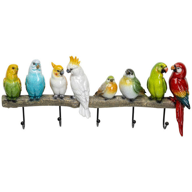 Coat Rack Exotic Birds