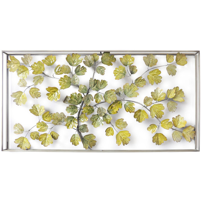 Wall Art Framed Branch With Leaves  70x135